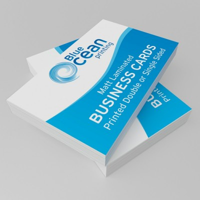 Business card printing and business card design in stevenage blue matt laminated business cards reheart Gallery